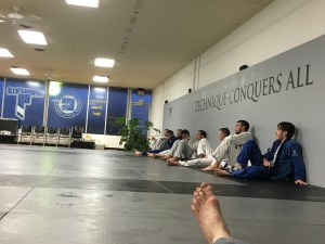 Looking Past My Foot At The Mats