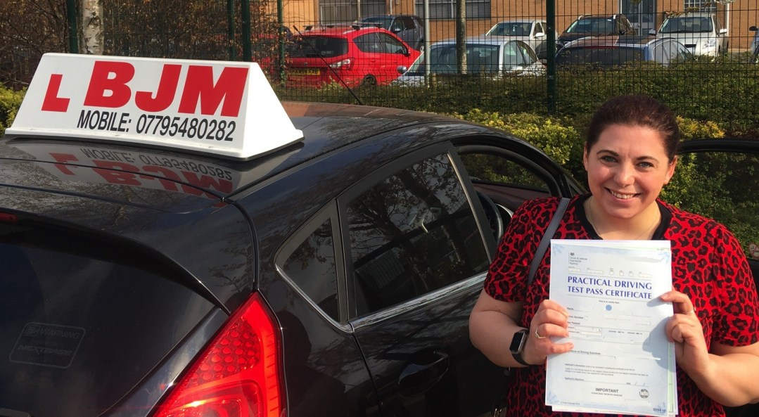 Congratulations Lauren on passing your driving test