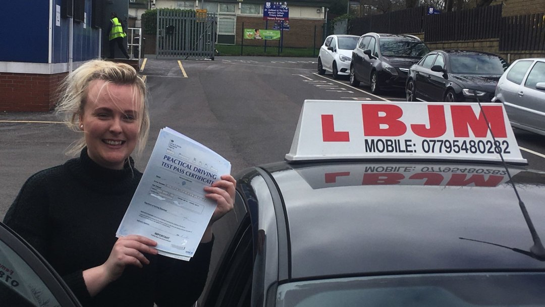 Congratulations Leanne on passing your driving test