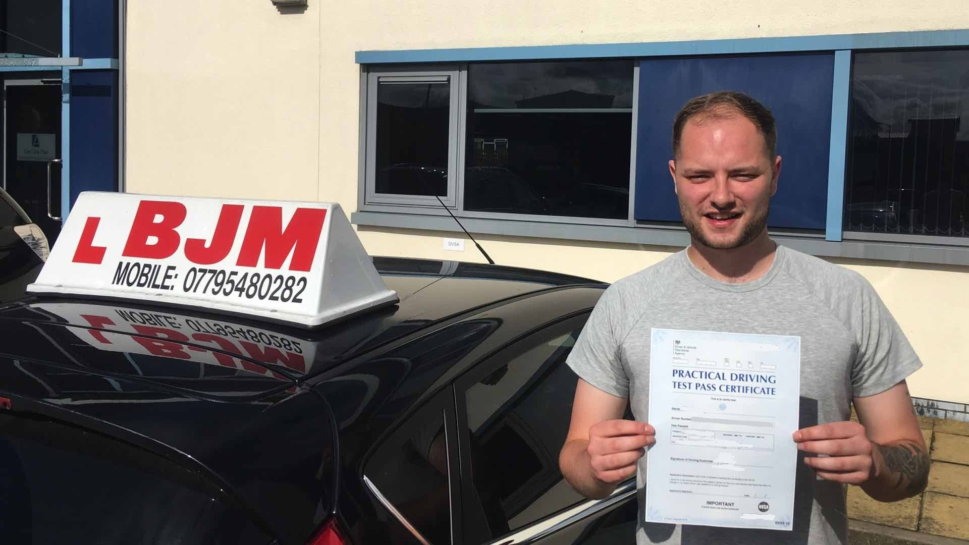Congratulations Micheal, Congratulations Micheal, BJM School of Motoring, BJM School of Motoring