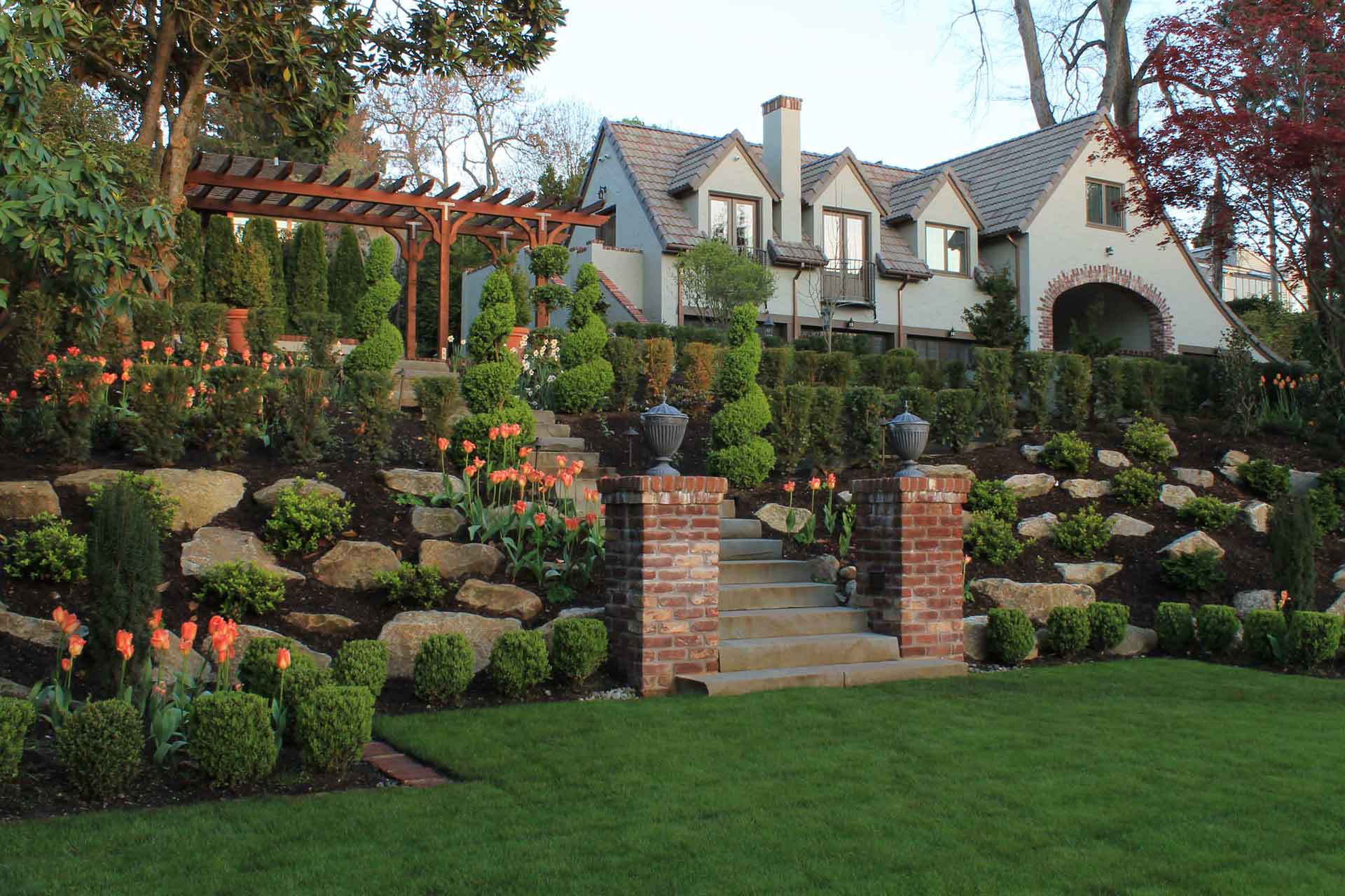Landscaping with Boulders - Bjorklund Companies on Backyard Hill Landscaping Ideas  id=42410