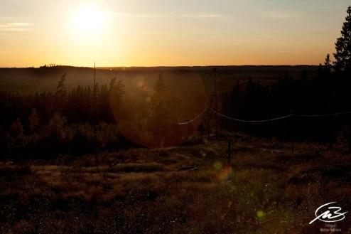 Solnedång över vidderna