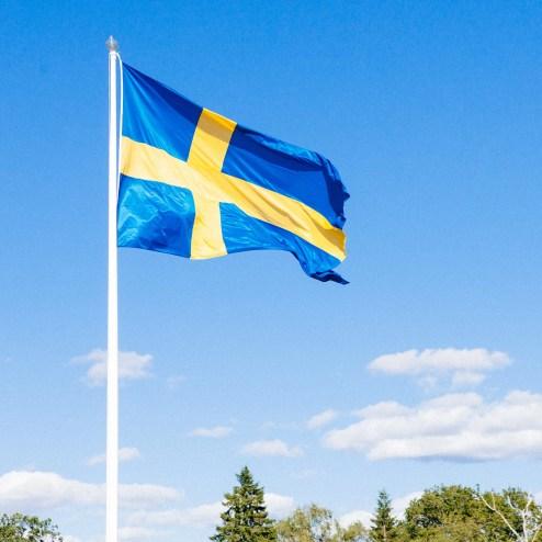Svenska flaggan, flaggstång, midsommar