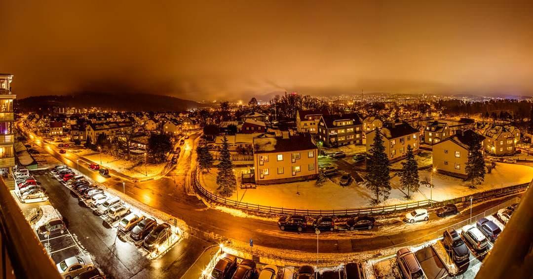 Panorama över Borås med Byttorp i förgrunden.