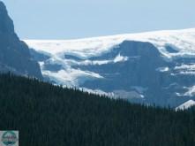 Blick auf Gletscher im Jasper National Park