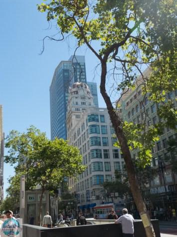 Hochhäuser rund um die Market Street