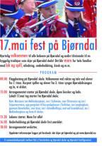 17. mai fest på Bjørndal (plakat: Bjørndal frivilligsentral/Laine Gundersen)