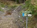 """Gammel amfibiedam og siste rest av """"lokasjon Holstad"""" er fylt igjen av JBV. Nå lager JBV ny permanent dam for amfibier på Vefald-tomten. (foto: Sven Brun)"""