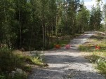 Enkelte turveier har blitt midlertidig stengt. Nå er det satt opp informasjonsskilt for turgåere. (foto: Sven Brun)