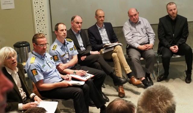 Panelet til informasjonsmøtet 23.05.2017 om Beredskapssenter