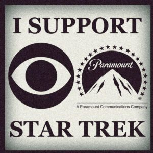 The Eye of CBS and P for Paramount. IP. It's a joke, ya Vulcan!
