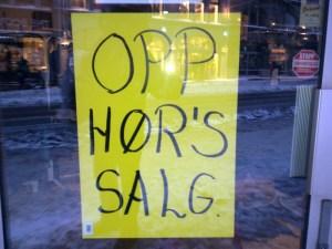 Opp hør's salg