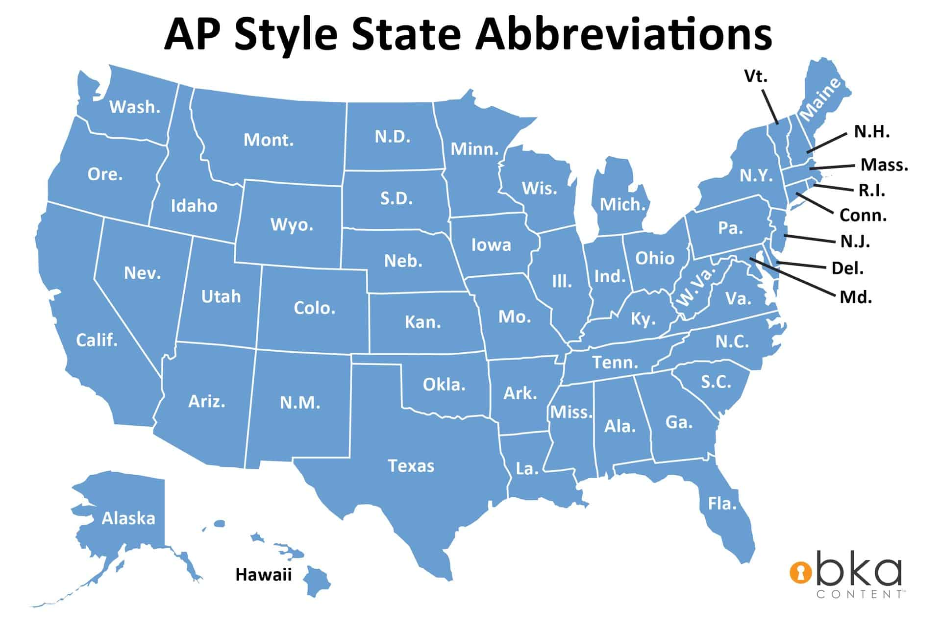 Ap Style State Name Abbreviations