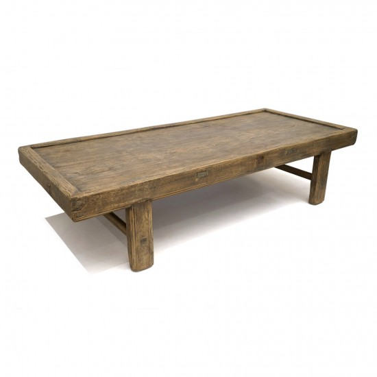 rustic reclaimed wood coffee table