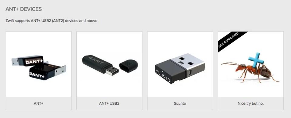 ANT+ Device เป็นหนึ่งอุปกรณ์สำคัญที่ต้องมี