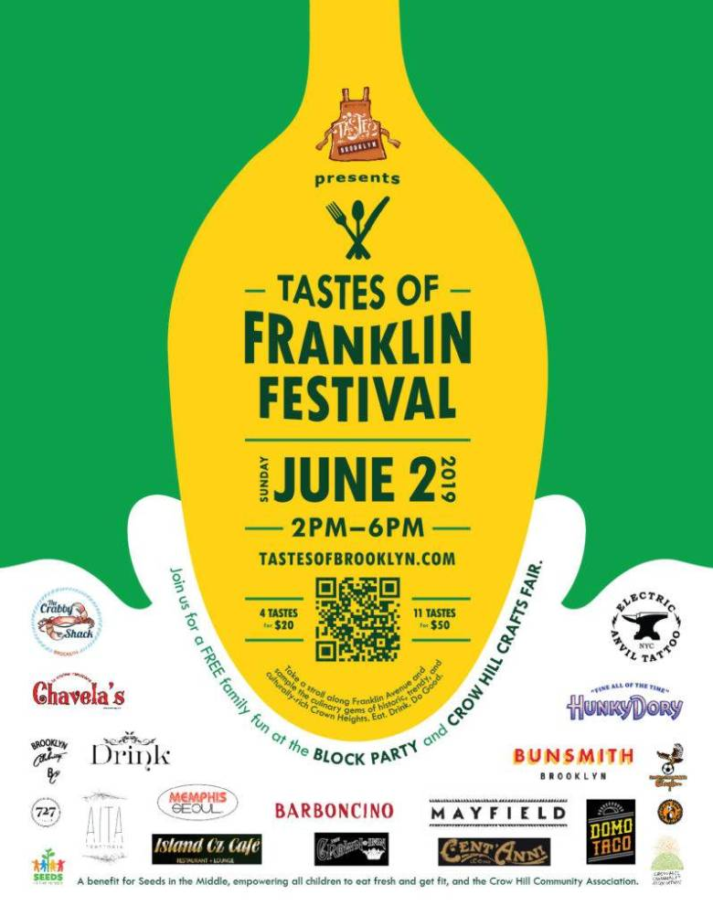 Brooklynites can stroll along Franklin Avenue and sample tastes from 14 local eateries for a good cause.