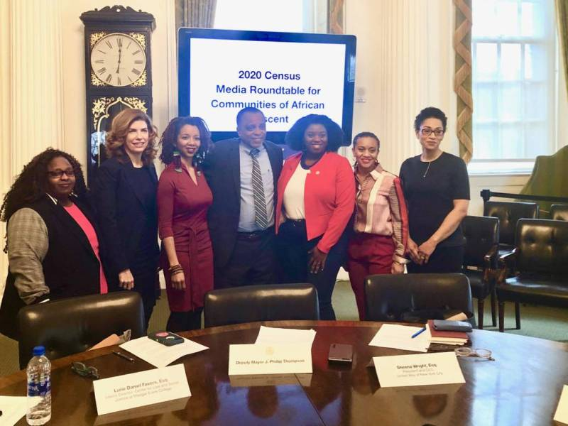 Census 2020, communities of African descent, undercount, hard-to-count, outreach campaign, black-led media, Kathleen Daniel, Julie Menin, Lurie Daniel-Favors, Esq., Phillip Thompson; L. Joy Williams, Sheena Wright, Esq., and Jennifer Jones Austin, Esq.