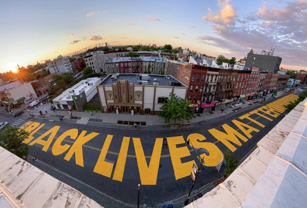 Black Lives Matter mural on Fulton St. Photo: Courtesy of Keith Forest.