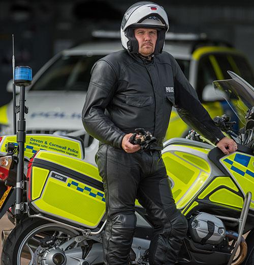 BKS Leather Police motorbike leathers