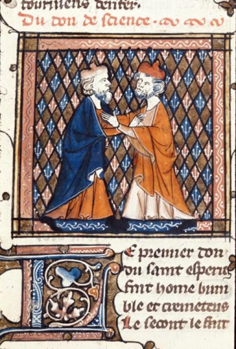 Image result for medieval manuscript friendship
