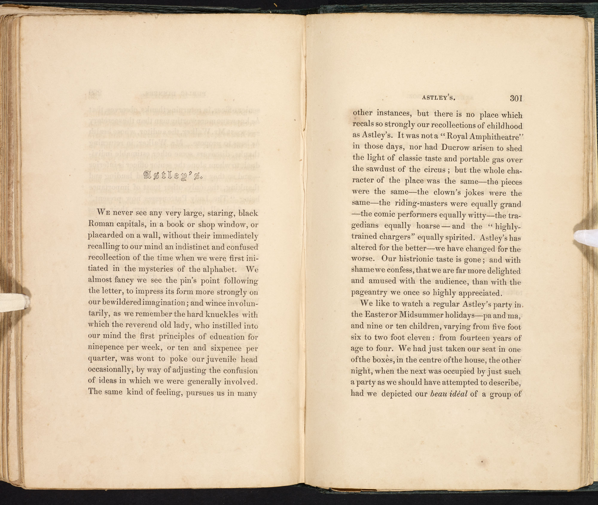 Astley S From Charles Dickens S Sketches By Boz