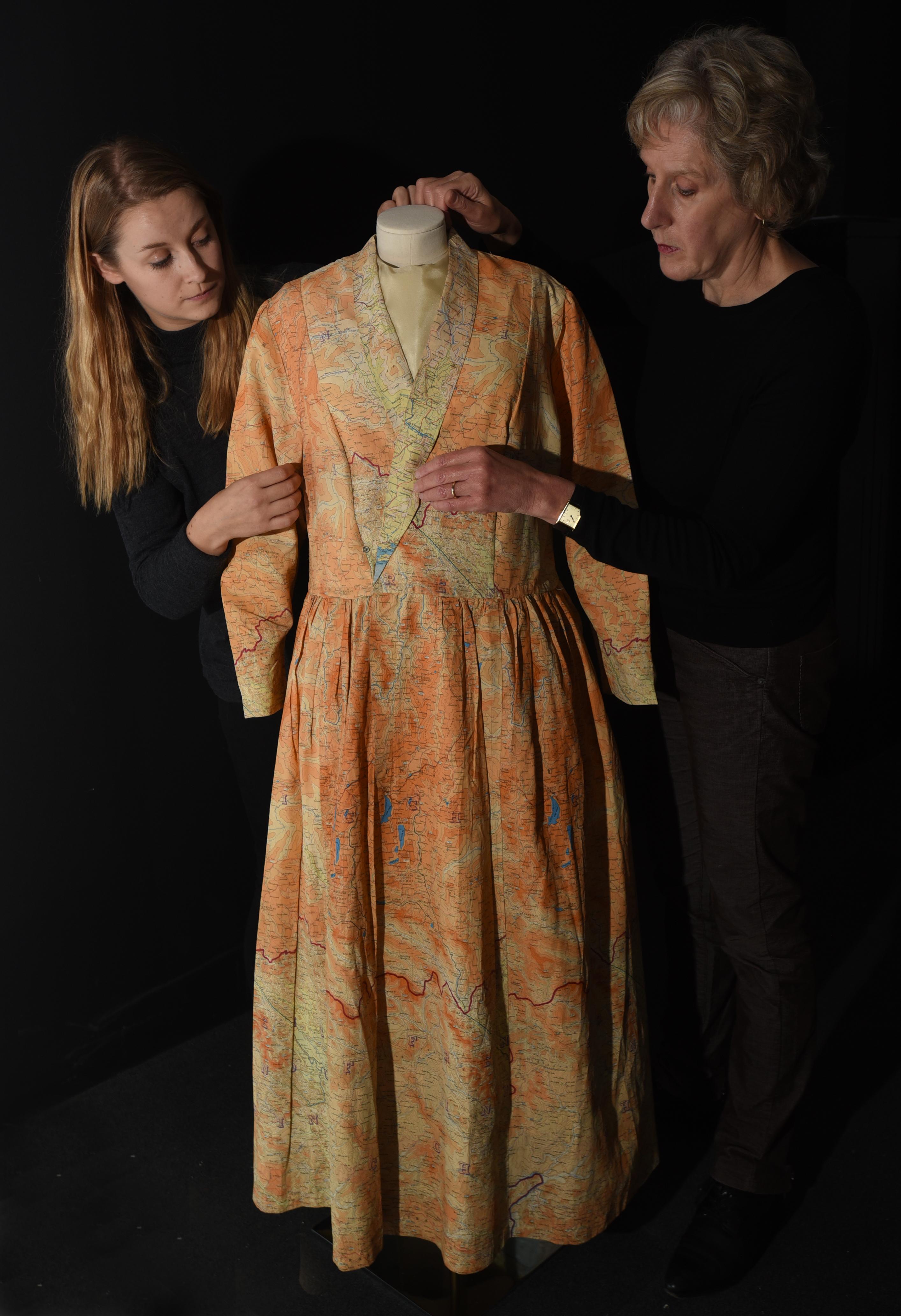 Silk maps dress. British Library