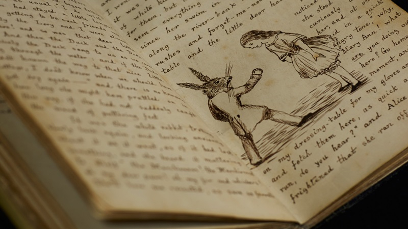 Alice in wonderland Manuscript
