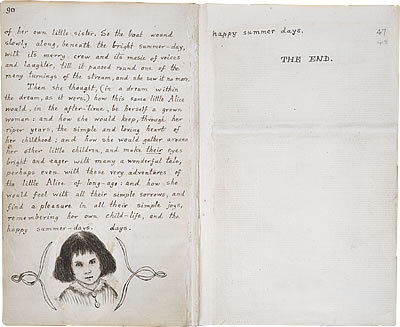 Image of Lewis Carroll's Alice's Adventures Under Ground - Pages 90 and 91