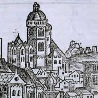 Mainz, from The Nuremberg Chronicle Nuremberg: Anton Koberger, 12 July 1493