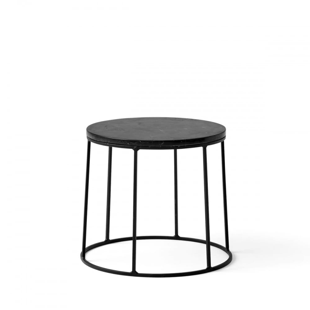 menu wire series marble indoor outdoor side table small black