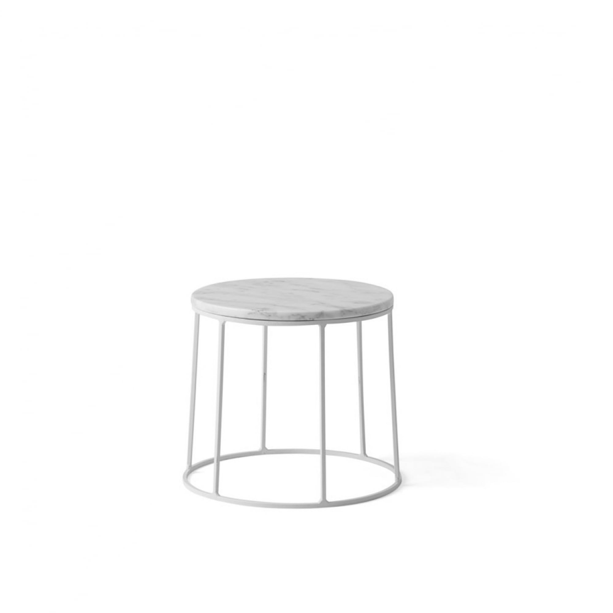 menu wire series marble indoor outdoor side table small white