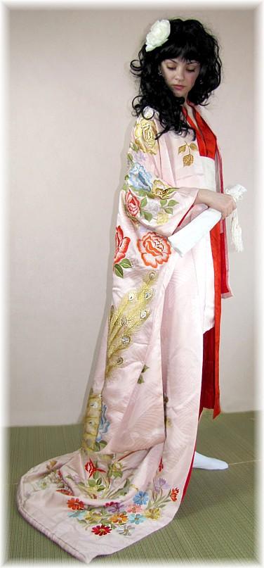 Japanese Wedding Silk Kimono Furisode Antique Japanese