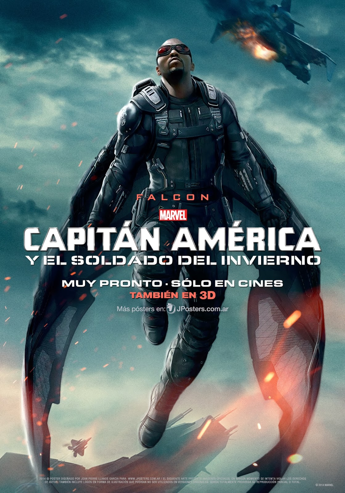 New Movie Poster for Captain America 2: The Winter Soldier featuring Falcon