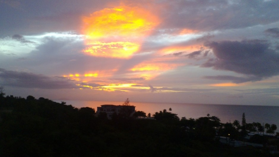 one of the amazing sunsets of Aguada, Puerto Rico on September 15, 2015