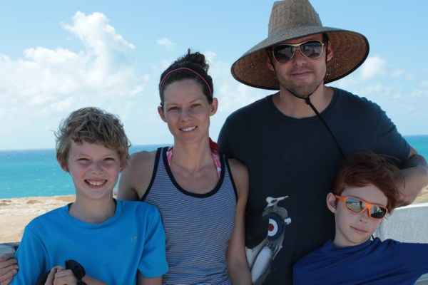 picture of our familiy for our interview on expat.com