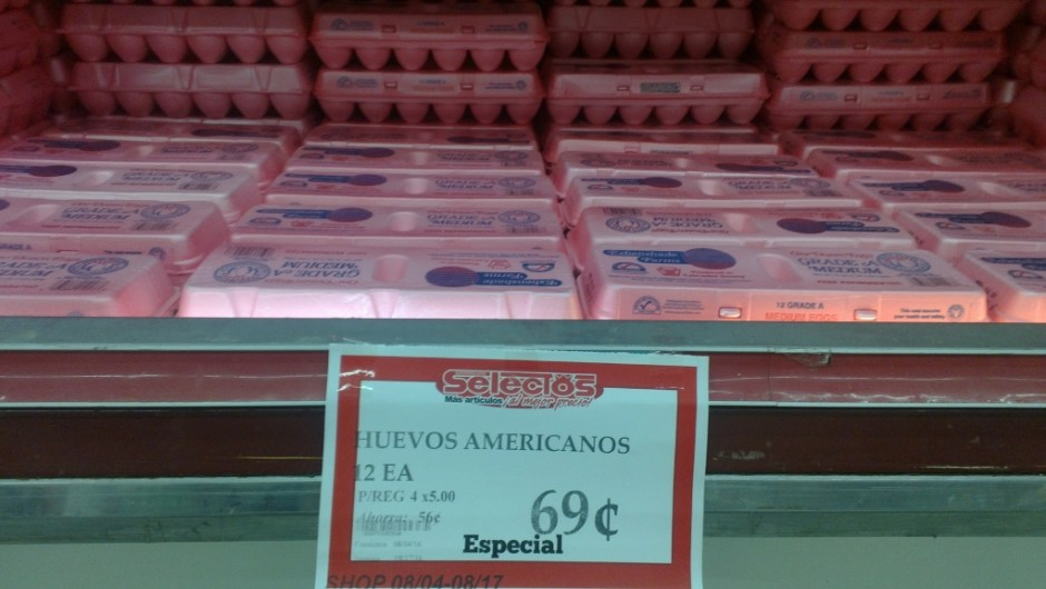 eggs for 69 cents a dozen - good deals in puerto rico