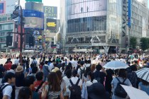 Black and Gold Coast - Cash vs Credit in Puerto Rico - Picture of scramble crossing in shibuya, tokyo, japan