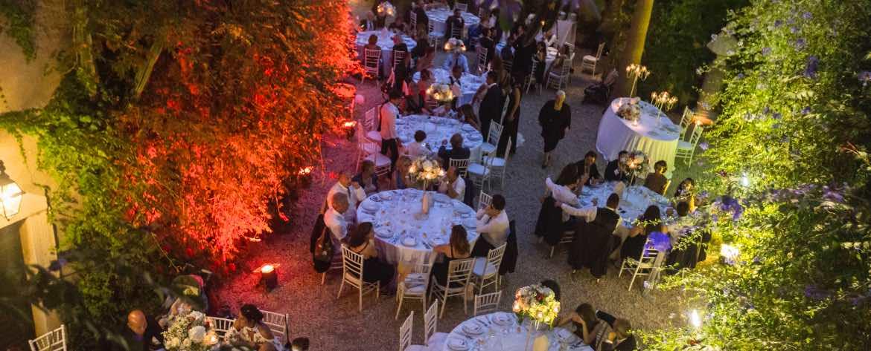 cena nella corte Castello di Santa Marinella