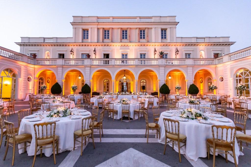 Villa Miani Allestimento Cena