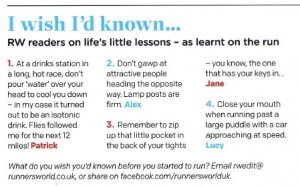 Runners World page Close Up