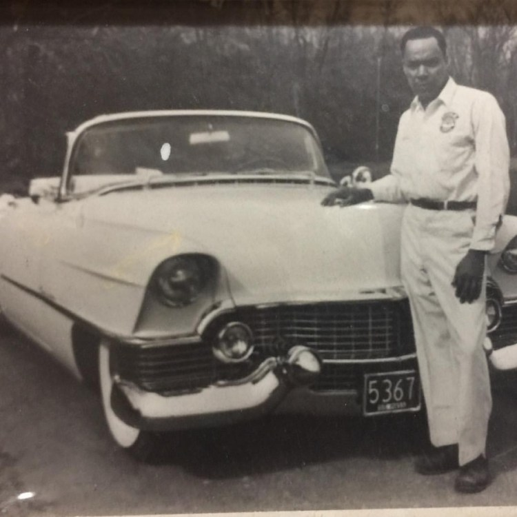 Gale Fulton Ross' father and his Cadillac