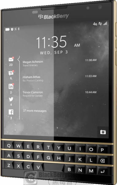 Godlen BlackBerry Passport