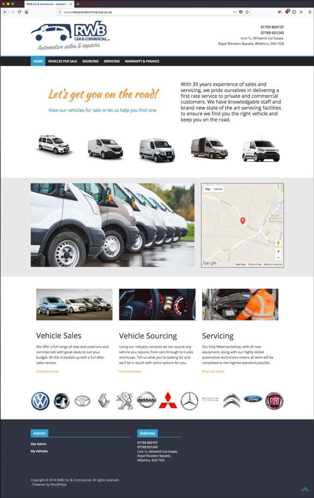 RWB Car & Commercial website