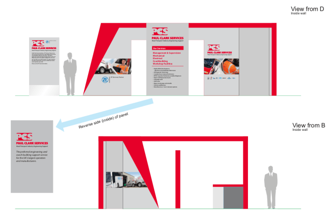 Exhibition stand design visual