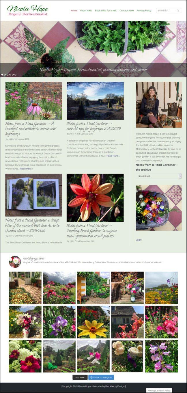 Nicola Hope Garden Designer