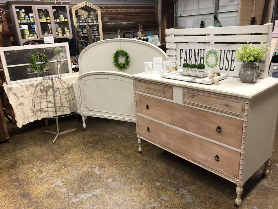 Custom mix blush color with Bronze Shimmer, Bed is in Fresh Eggs, Shabby Remakes, Clinton, Tn