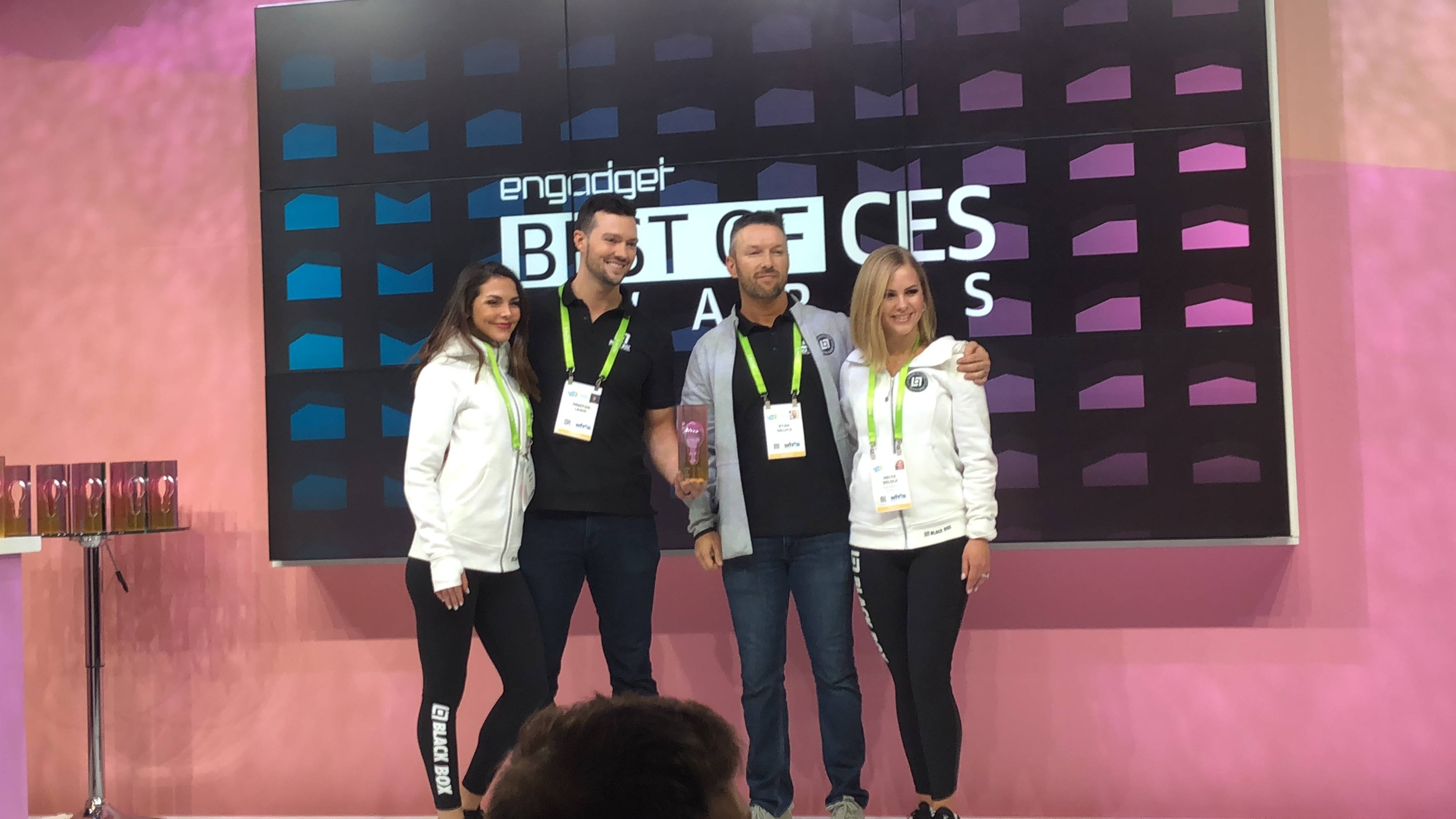 Preston Lewis & Ryan DeLuca receiving award for Best Startup at CES