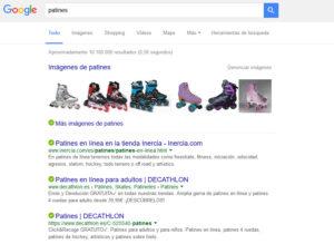 SEM o SEO Web Google Ejemplo 3