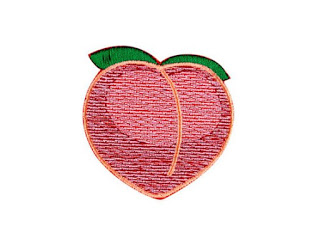peach emojii patch