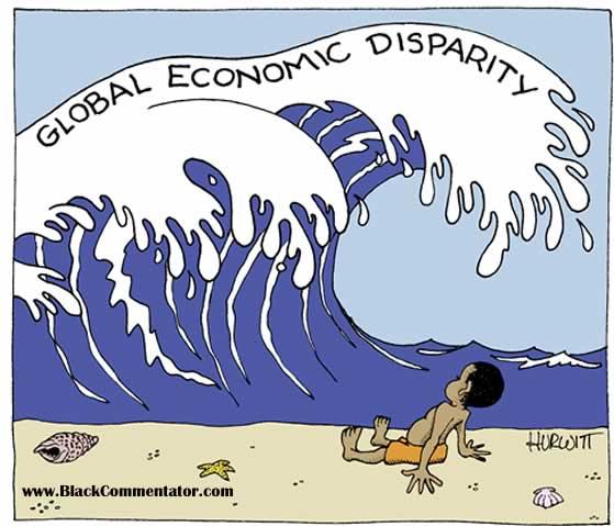Economic disparity, cartoon